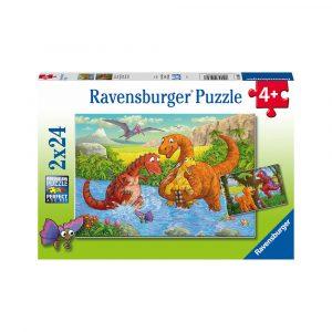 RAVENSBURGER 2X24 LEKNE DINOSAURER