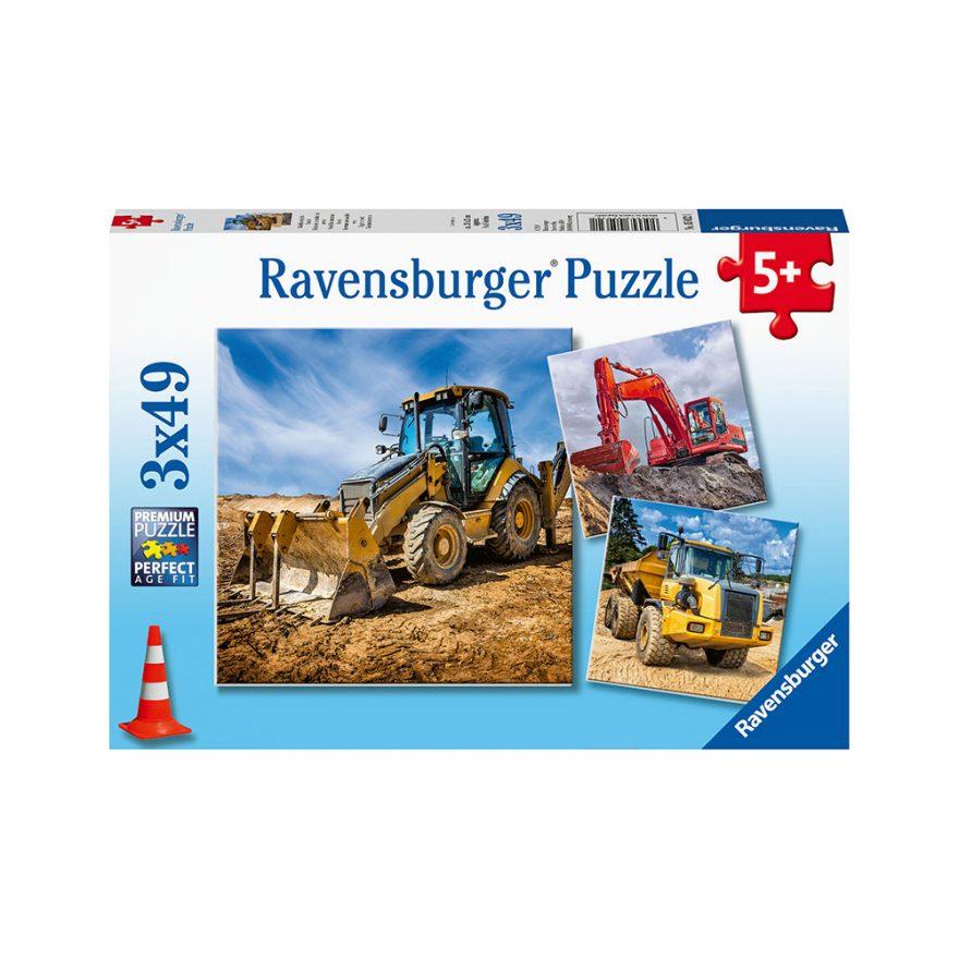 RAVENSBURGER GRAVEMASKINER 3X49P