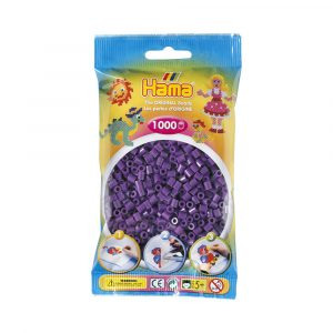 MIDI BEADS 1000 PCS PURPLE