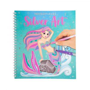 AKTIVITETSBOK SILVER ART FOIL FANTASY TO