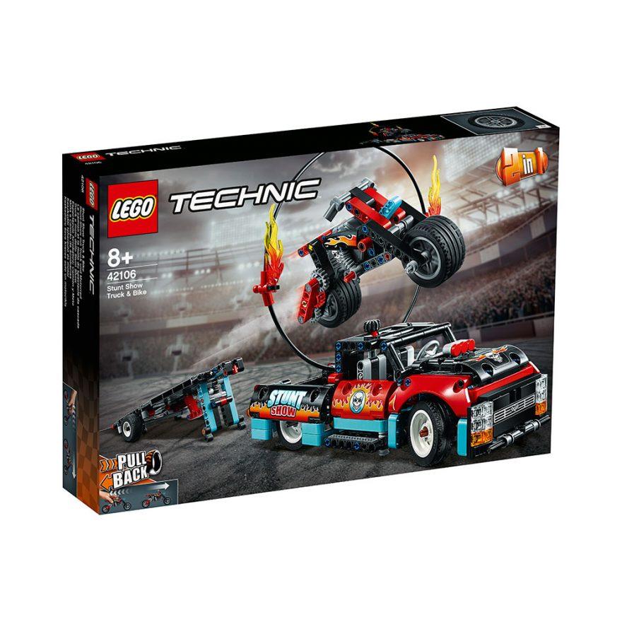 LEGO 42106  STUNTMOTORSYKKEL OG PICKUP