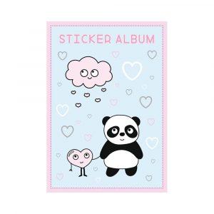 STICKER ALBUM 14,5X21CM PANDA