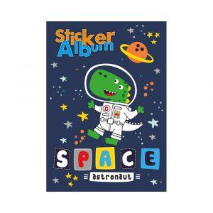 STICKER ALBUM 14,5X21CM DINO IN SPACE