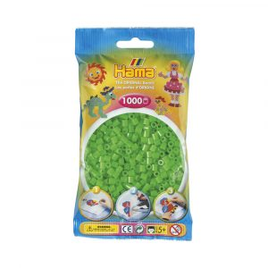 MIDI BEADS 1000 PCS FLUORESCENT GREEN