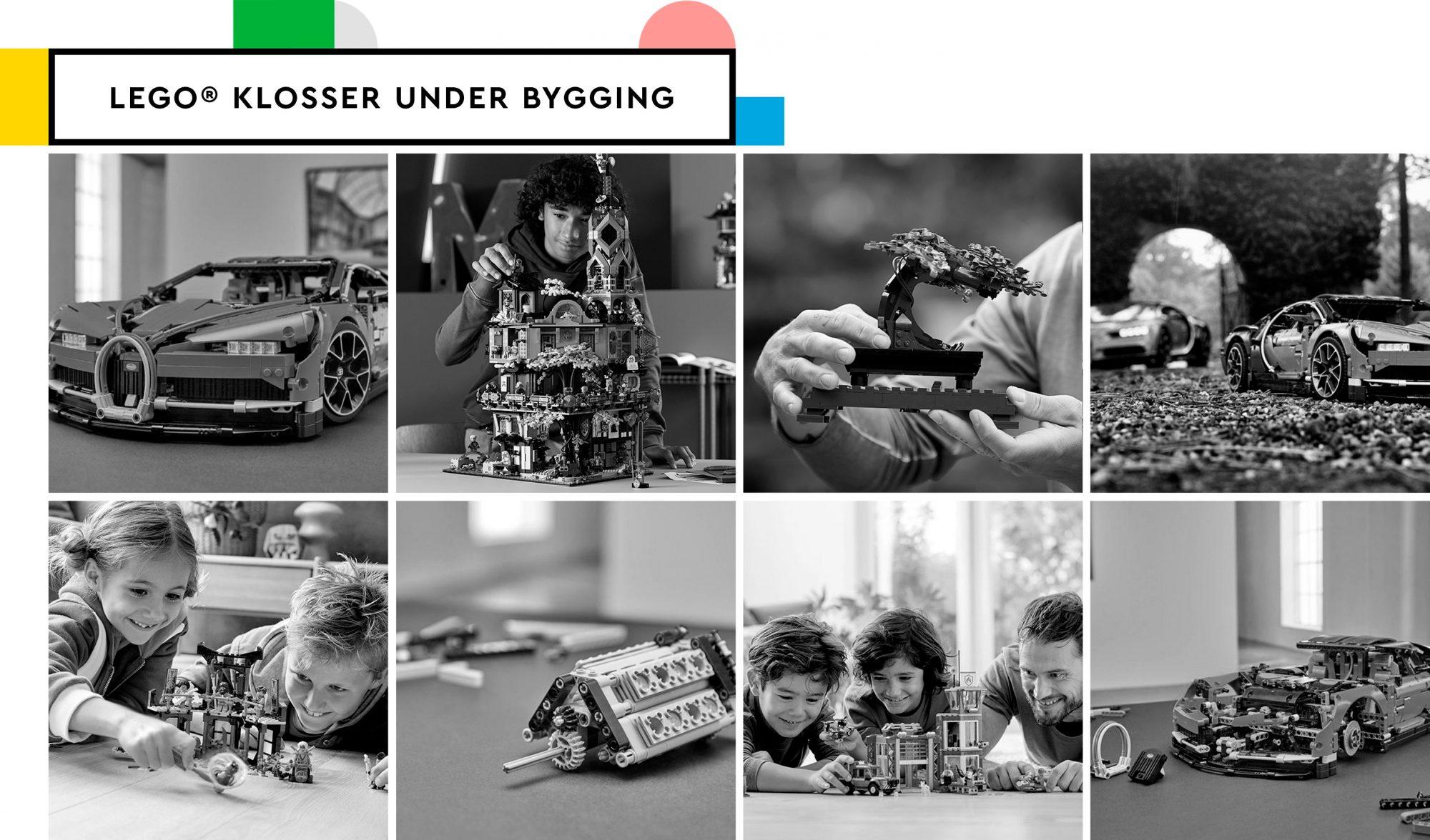 Lego klosser under bygging