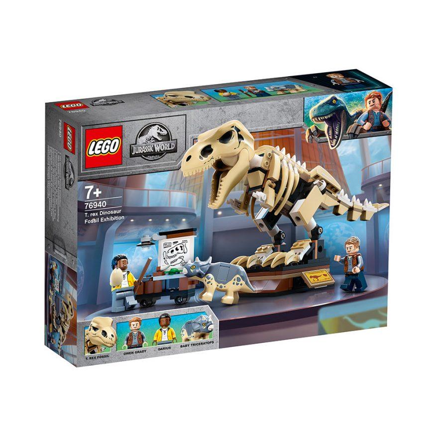 lego jurassic park t.rex fossilutstilling
